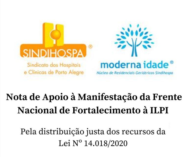 Nota de apoio à manifestação da Frente Nacional de Fortalecimento às ILPIs
